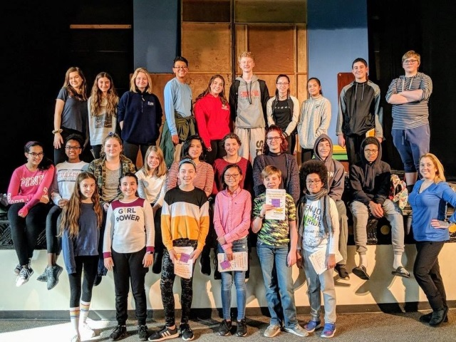 All-County Chorus Students who performed on the Grand Stage of SUNY Purchase on 3/2/19.