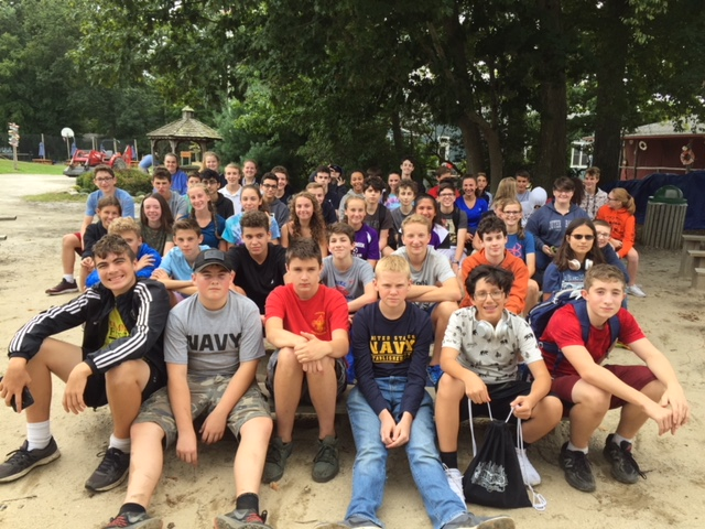 The 9th grade attended Camp Hazen for a team building and leadership skills training program.