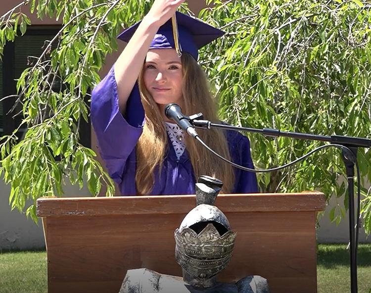Student switches tassel at graduation
