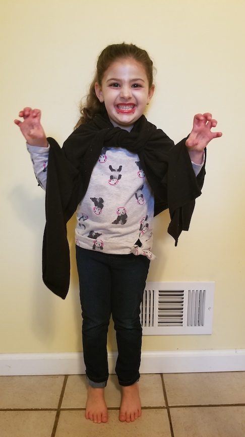 This is a scary caped girl