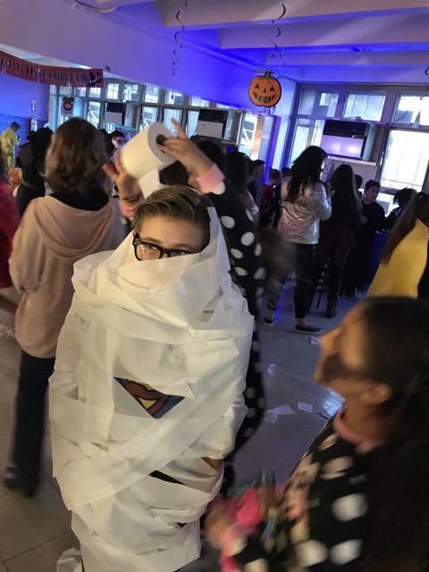 a mummy on the dance floor