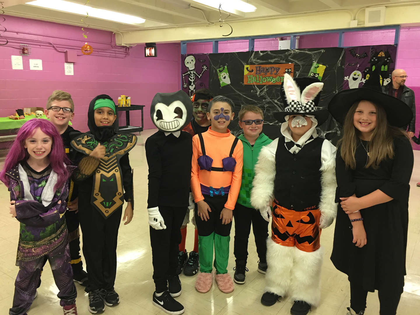 a group of students in costume