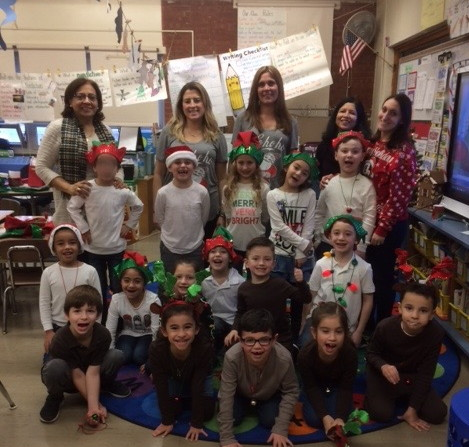 Mrs. Marco's class posing for a picture
