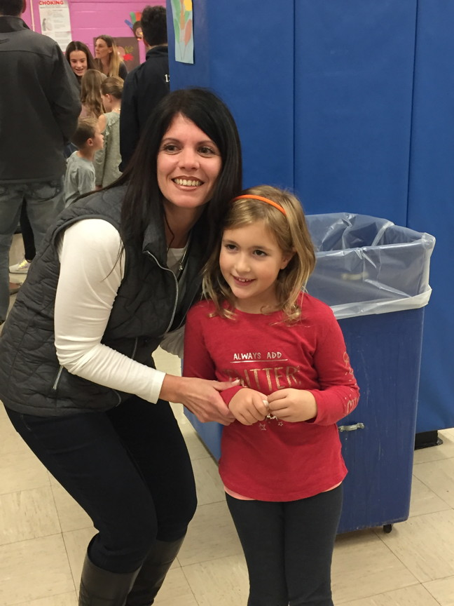 Mrs.Peragine and a student