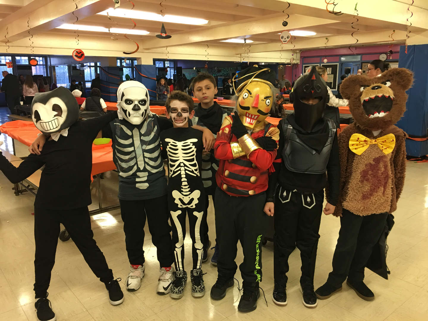 a group in costume looking good!