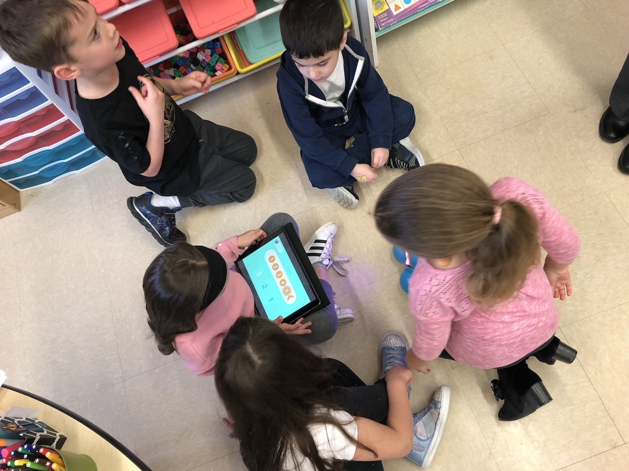 a group of five making a program