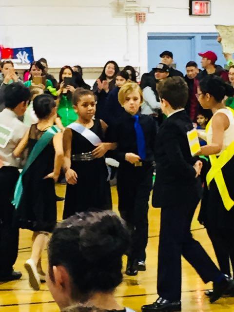 dancers gathering together