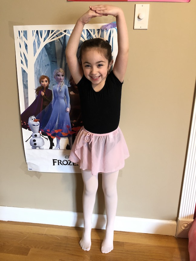 this is a picture of a little ballerina