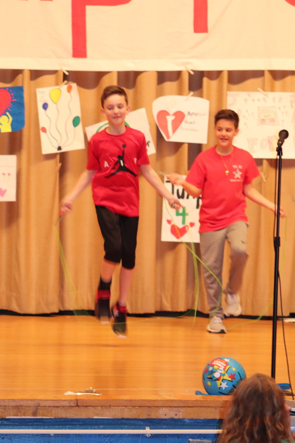 two boys jumping rope