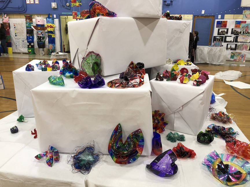 crafts created by the students