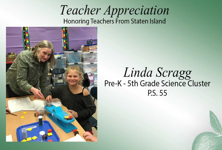 Mrs. Scragg was honored by Senator Lanza