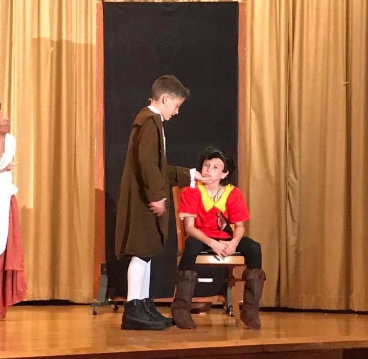 Gaston talking to LeFou