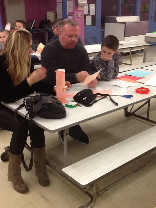 parents and children creating their bridge