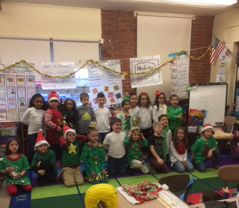 A class ready to perform their song
