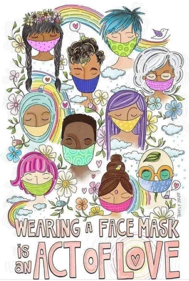 Wearing a mask is an act of love