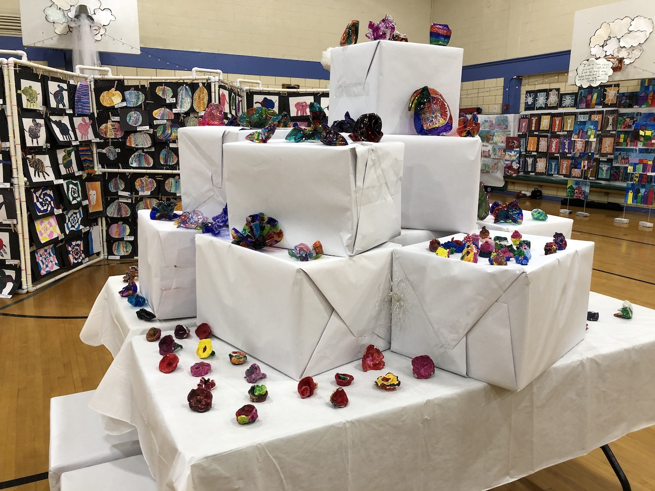 a pyramid of different crafts