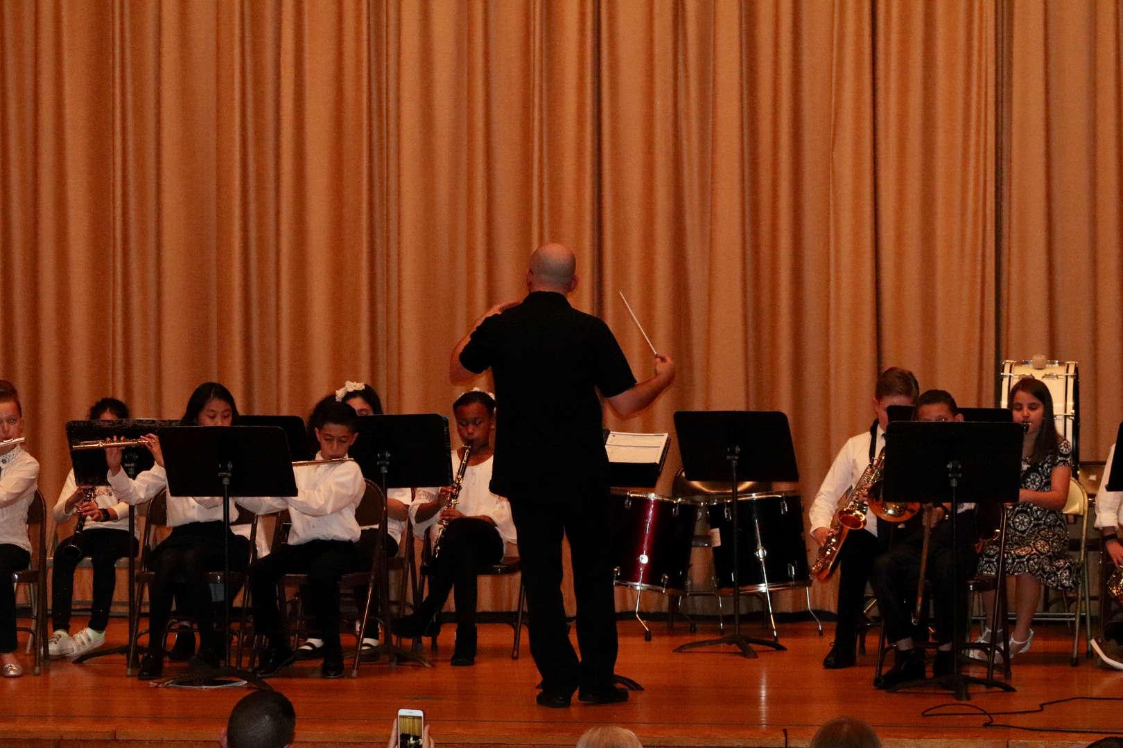 Mr. Graziano leading the orchestra