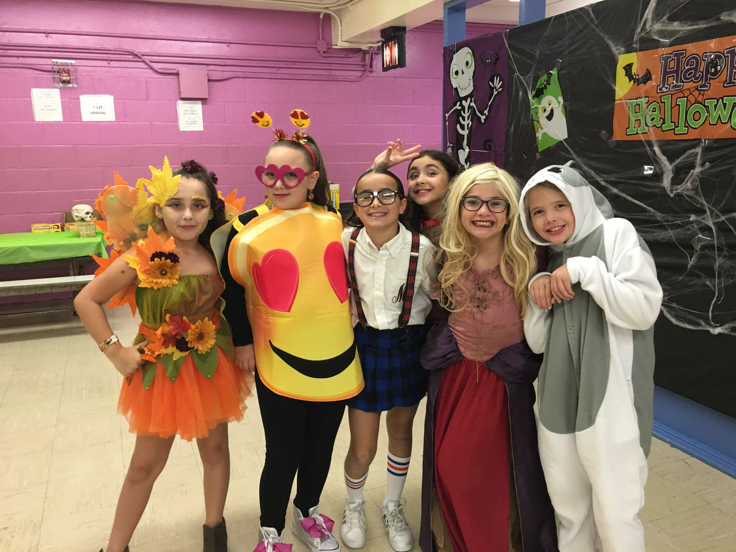 a group of girls in costume