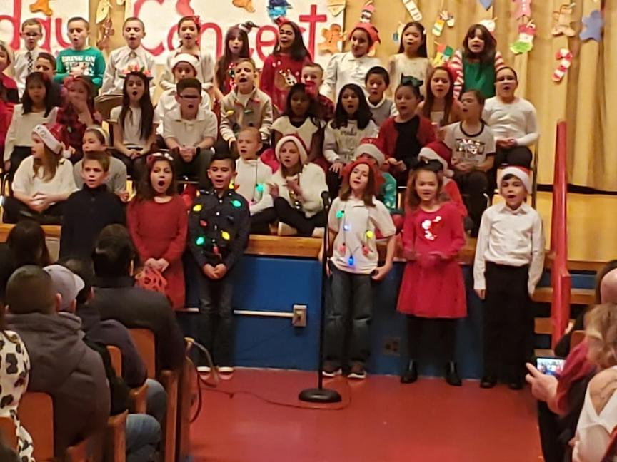 group of 3rd grade singers