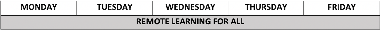 new schedule - remote learning for all!