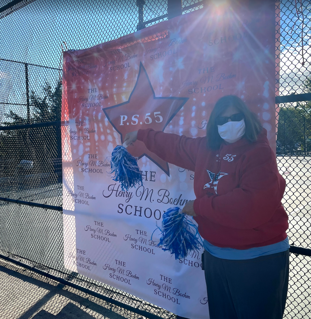 Our best cheerleader, Mrs. Fishman