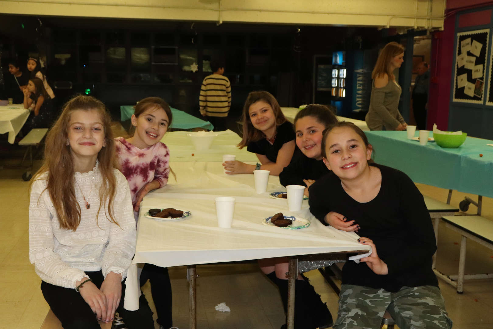 table of fifth grade girls