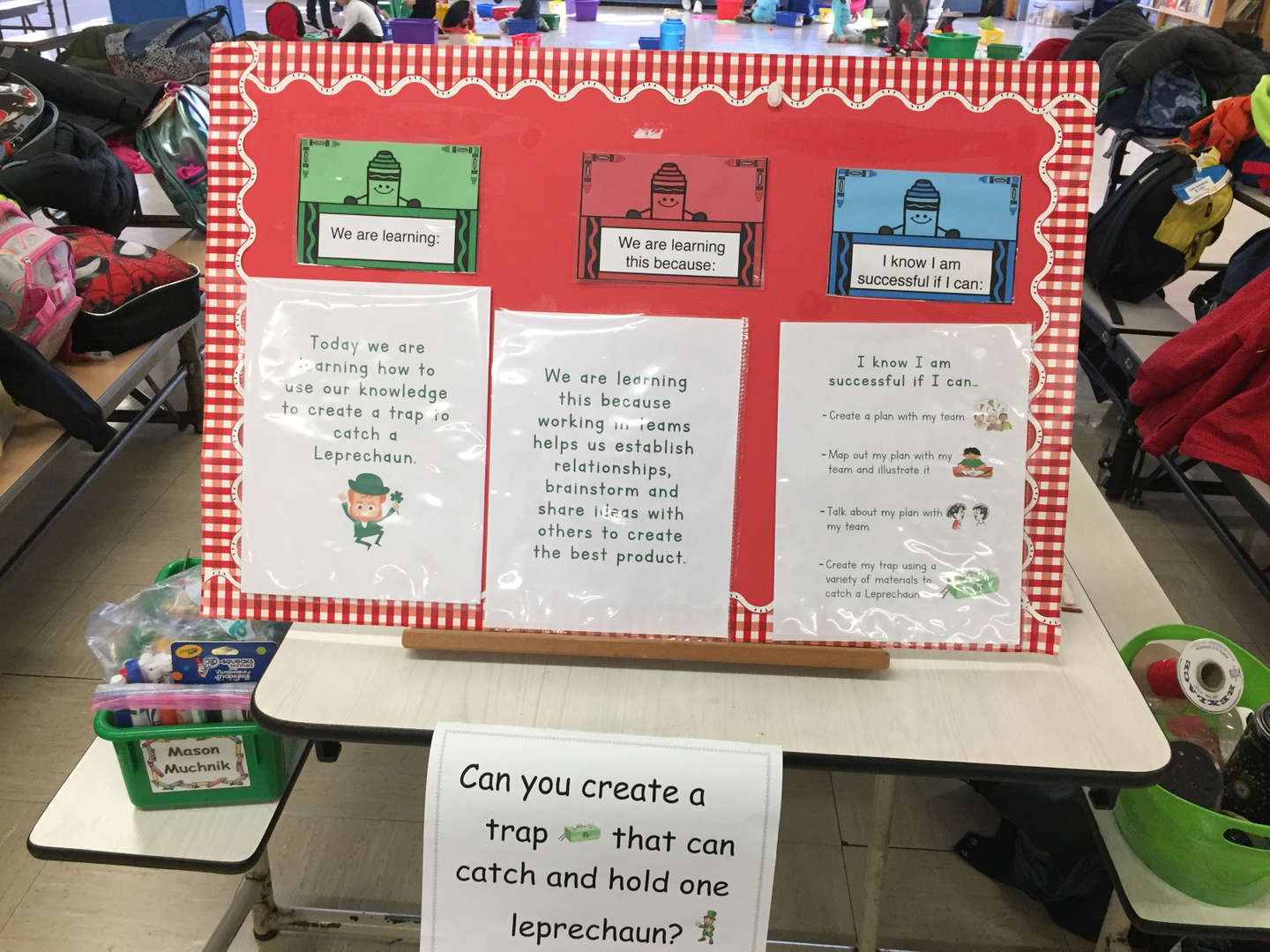 The project for catching leprechauns