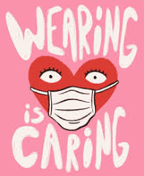 Wearing is caring - a heard wearing a face mask
