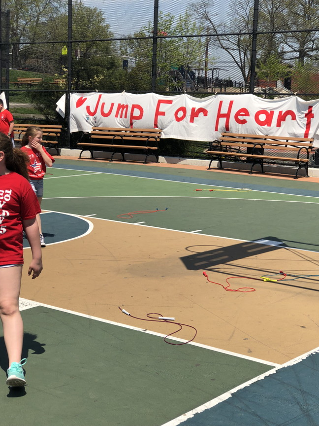 banner saying Jump For Heart
