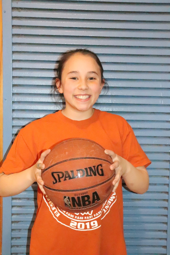 team girl with ball