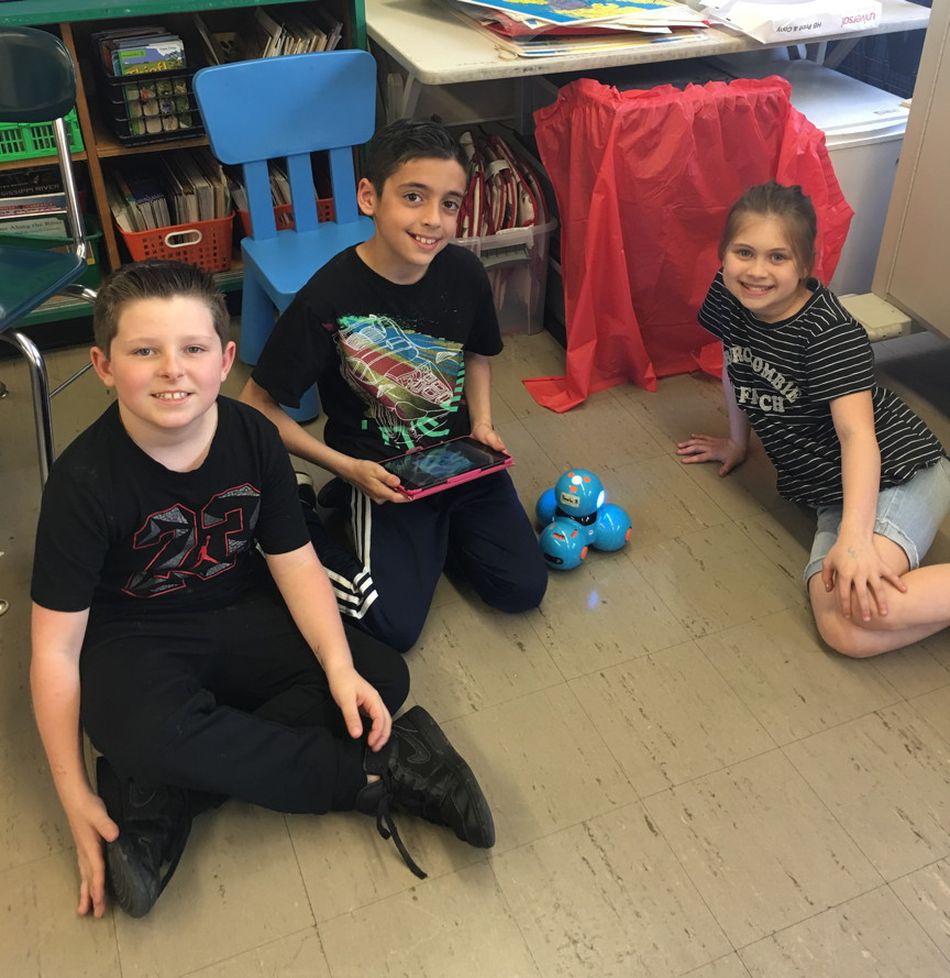 These three are teaching the robot