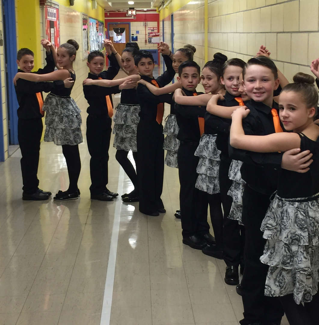 The dancers ready to dance