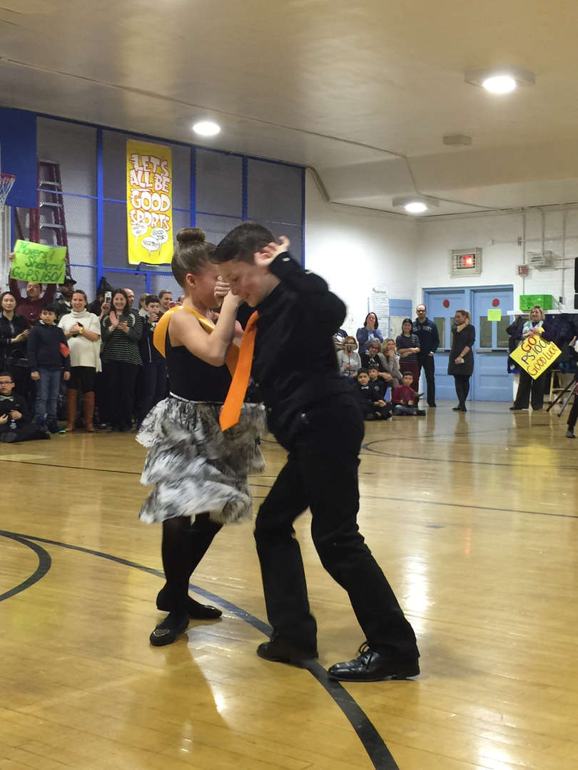 One of the dance couples dancing