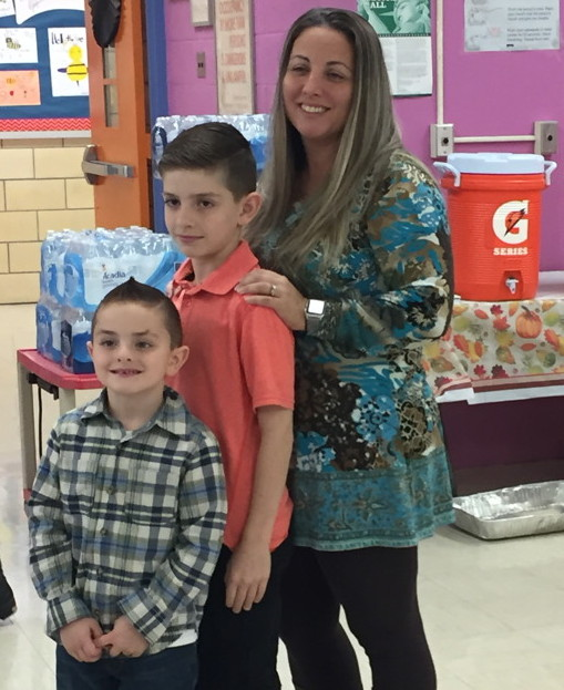 Mrs. Pascale and her sons