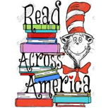 Read Across America sign with a Cat in the Hat picture