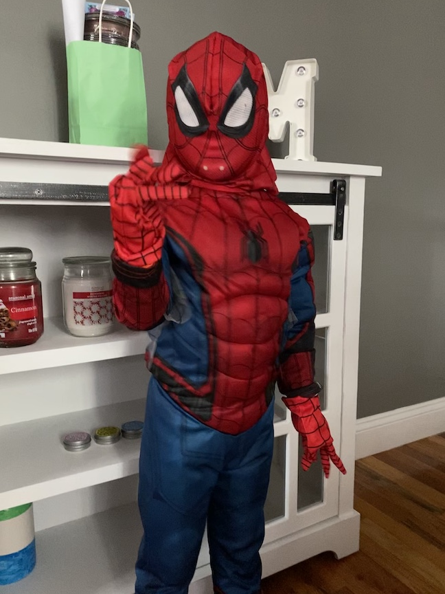 here's Spiderman!
