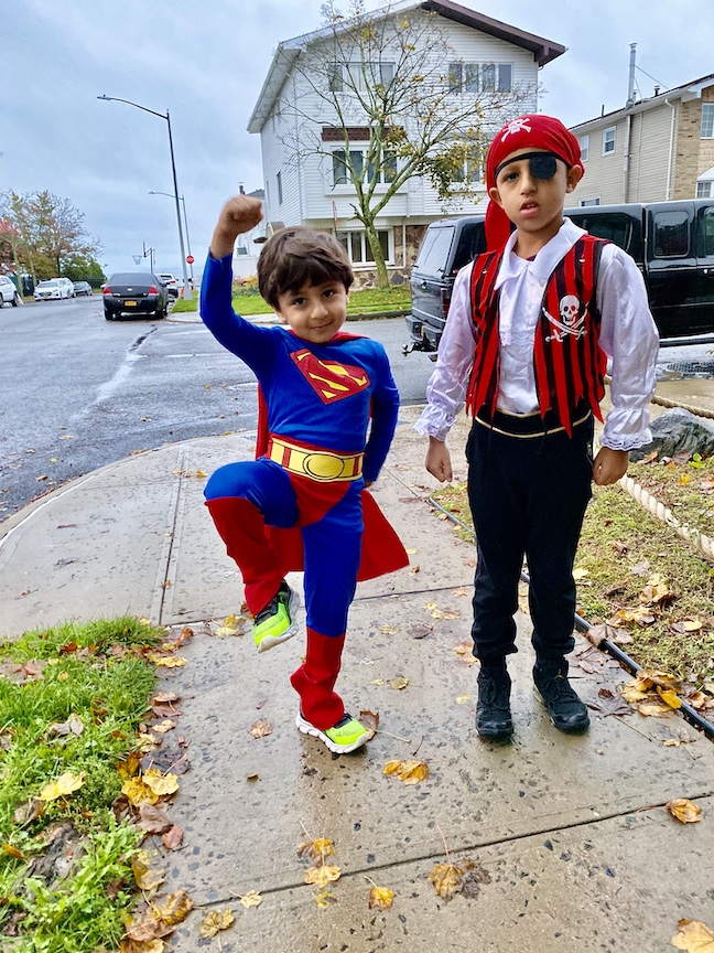 This is Superman and a pirate.