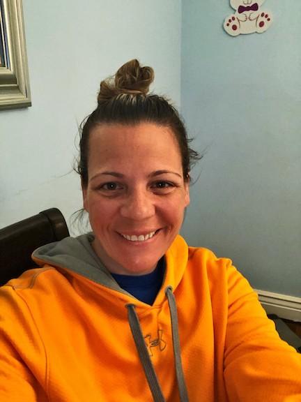 a teacher with morning hair