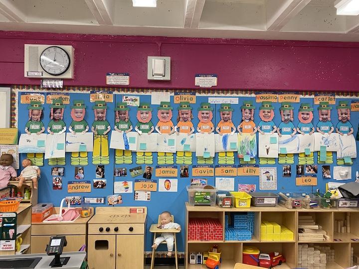 The kindergarten leprechaun's of Mrs. Berman's class