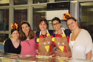 our staff serving dinner
