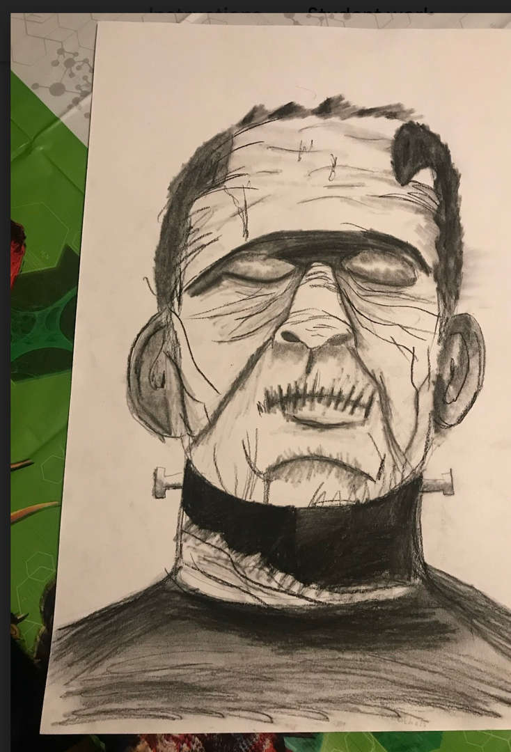 This drawing resembles Frankenstein