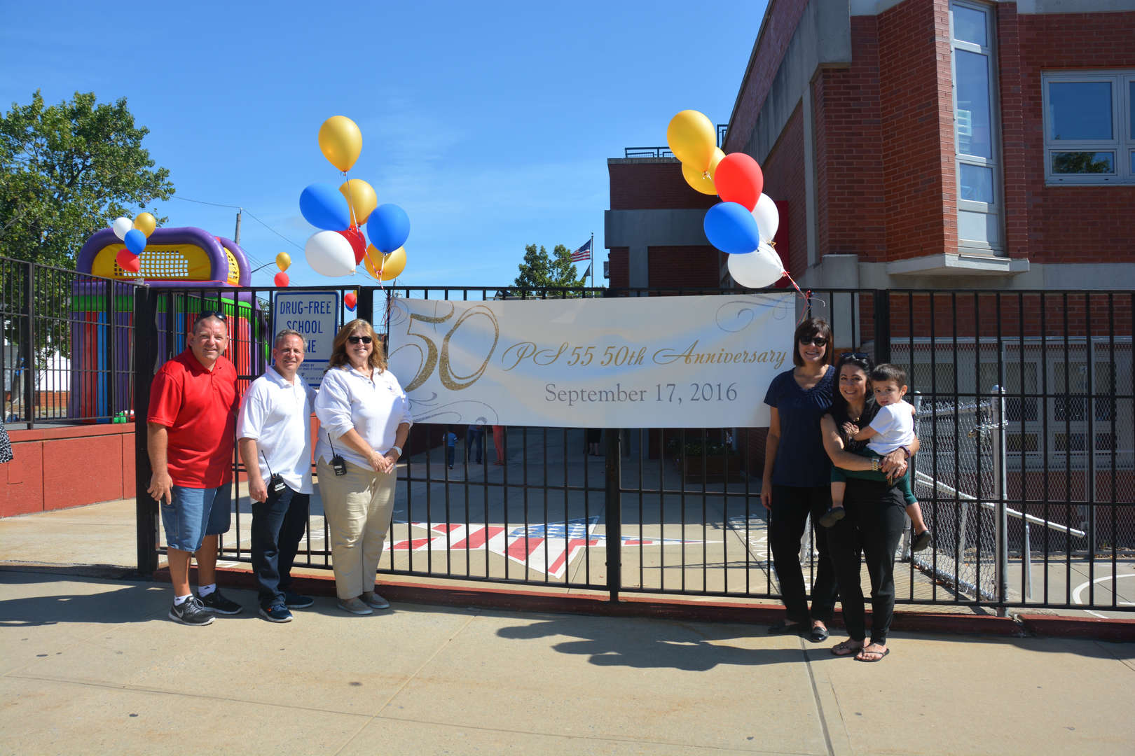 banner of our 50th birthday anniversary